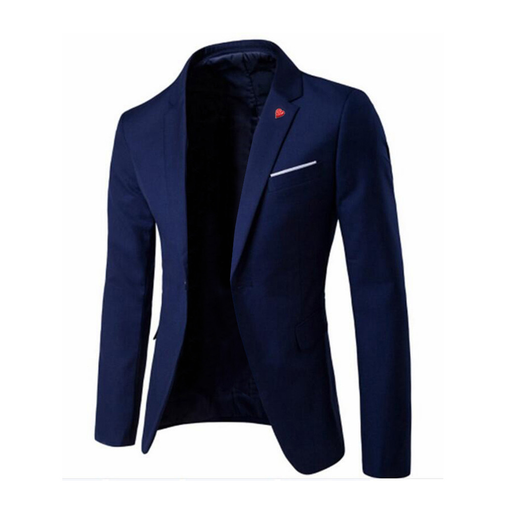 2020 Autumn Men's Stylish Casual Solid Blazer Business Wedding Party Outwear Coat Male High-end Custom Business Suit Tops#LR3