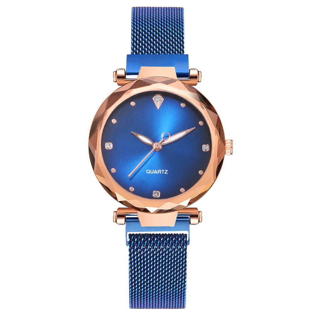 2020 Personalized Blue Watch Women Luxury Fashion Starry Sky Magnetic Watches Quartz Wristwatch Best Gift Clock Relogio Feminino