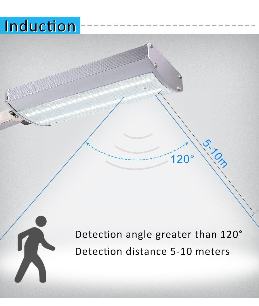 Iluminação De Segurança Ao Ar Livre Solar À Prova D' Água Com 4 Modos