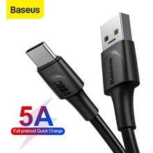 Cavo USB tipo C Baseus 5A per Redmi Note 9s cavo di ricarica rapida 3.0 per Samsung Huawei Oneplus cavo USB C a ricarica rapida