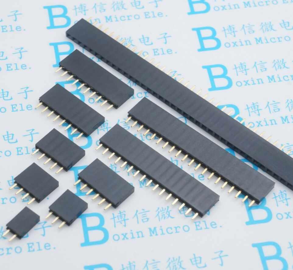 10 Pcs 2.54 Mm Toonhoogte Enkele Rij Vrouwelijke Pin Socket 2/3/4/5/6/7/8/9/10/11/12/13/14/40Pin Pcb Connector Enkele rij Moeder Voor Arduino