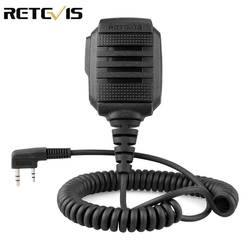 RETEVIS RS-114 IP54 Водонепроницаемый Динамик микрофон для Kenwood Retevis H777 RT5R RT22 RT81 BAOFENG UV-5R UV-82 888 S рация