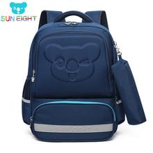 SUN EIGHT Kids School Backpacks Cartoon Pattern New Arrival Orthopedic Back Girls bags Children Bag