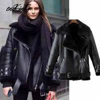 2019 inglaterra moda blogger alta rua grandes zíperes de couro da motocicleta za jaqueta feminina feminino