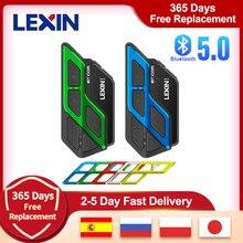 Lexin-Intercomunicador ET Com para motocicleta, Intercomunicador inalámbrico para Moto, Bluetooth 5,0, con Radio FM, Multicolor, 2 uds.