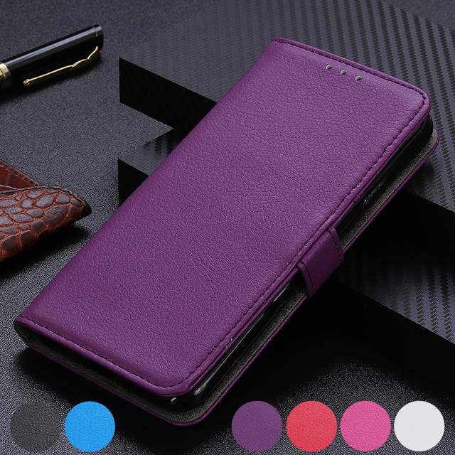 Litchi Flip PU Leather Stand Card Slots Wallet Cover Case for Sony Xperia 20/ Xperia 10/ Xperia 1/ Xperia 2/ L3 XZ4 XZ4 XZ3 XZ2 Premium XA2 Plus
