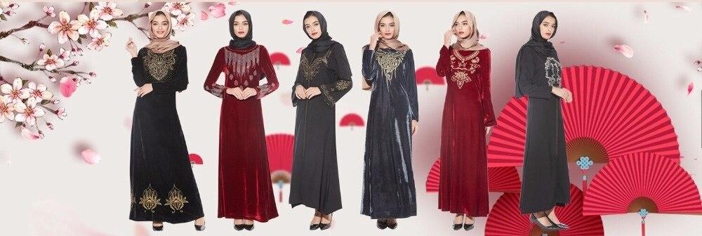 longo robe vestidos mussulmane