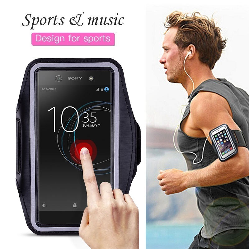 Sports Running Phone Bag <font><b>Case</b></font> for <font><b>Sony</b></font> <font><b>Xperia</b></font> XZ3 XZ2 XZ1 XZ4 Compact XA3 XA2 XA1 <font><b>10</b></font> Plus 1 XA Ultra <font><b>Case</b></font> <font><b>Cover</b></font> Holder on Hand image
