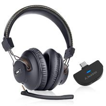 Avantree C519M 40hrs Play Time Wireless Gaming Headphones Set for Nin tendo Switch, PC Desktop Computer w/Bluetooth 5.0 USB C