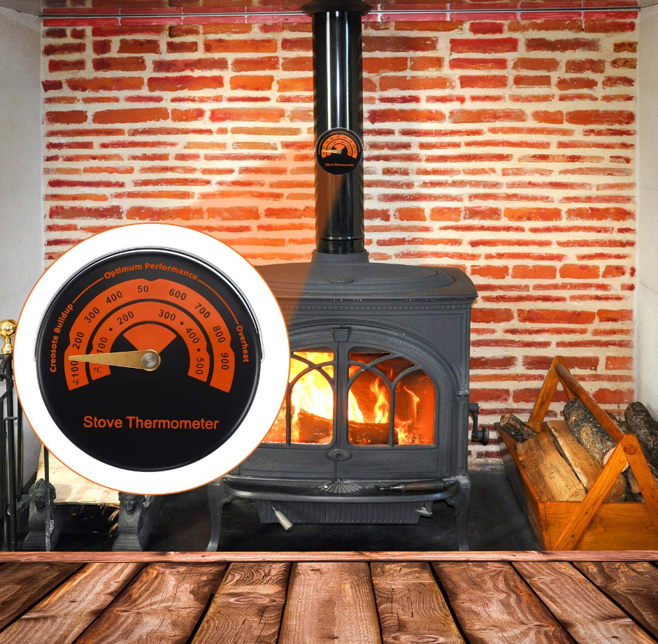 Home Magnetic Stove Thermometer Oven Temperature Meter  Stoves Pellet Stove Stoves For Wood Burning Stoves Gas Stove Flue Pipe