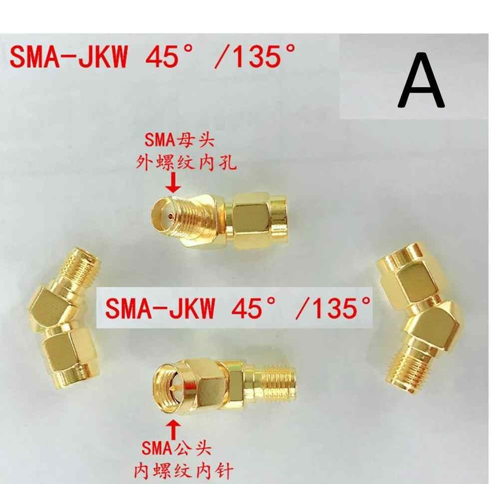 2 piezas de cobre SMA RP-SMA macho hembra adaptador de codo 45 135 grados ángulo oblicuo SMA-JKW FPV goggle receptor de vídeo Fatshark skyzone
