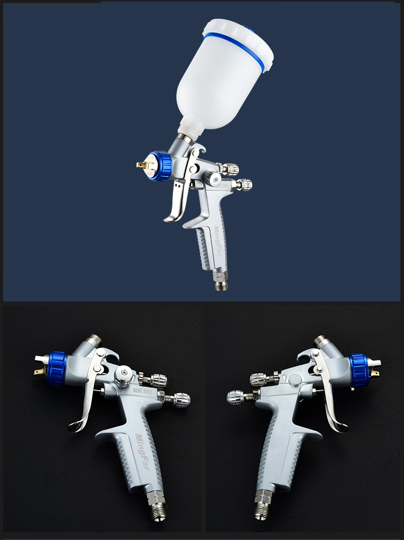 MINI 3000  spray paint  gun  noz 0 8MM   1 0MM  Repair paint coating Gravity spray gun with cup