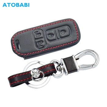 עור רכב מפתח כיסוי עבור הונדה N-BOX NBOX N-BOX + בתוספת N Wagon N-אחד 4 לחצנים חכמים Keychain מחזיק שלט רחוק להגן על מקרה