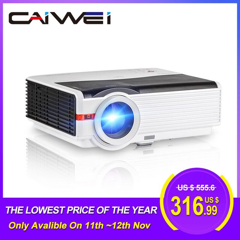 Caiwei a9/a9ab smart android wifi lcd led 1080p projetor casa cinema 8000 lumens vídeo hd completo móvel beamer para smartphone tv