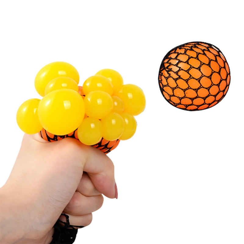 Stress Relief Grape Ball Funny Toys Grape Ball Autism Mood Squeeze Toys For Stress Fun Creative Gifts Random Colors ET