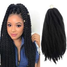Marley włosy na twisty 18 Cal długie Afro Marley warkocz włosy syntetyczne włókna Marley włosy plecione rozszerzenia szydełkowe warkocze