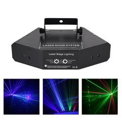 RGB efekt skaner laserowy lampa projekcyjna DMX Disco strona główna DJ wiązki ruchu Ray pokaz sceniczny System oświetlenie 6 oczy 24 wzory