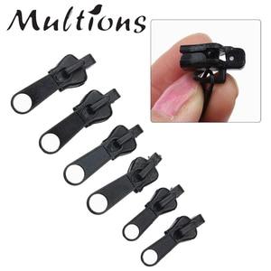 6Pcs Universal Zipper DIY Repair Kit Replacement Zip Slider Teeth Rescue Zippers For Garment DIY Sewing Accessories