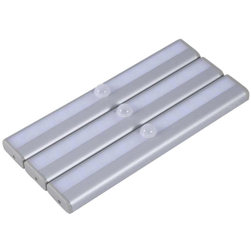 Топ 3 шт. 10LED датчик движения человека Ночной светильник, автоматически ощущает ваш гардероб, шкафы, умный датчик s не замечать движения челов...