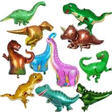 Jurassic dinosaur HAPPY BIRTHDAY Foil Balloons Happy Birthday Party Decoration Kids Cartoon tyrannosaurus Alphabet Air