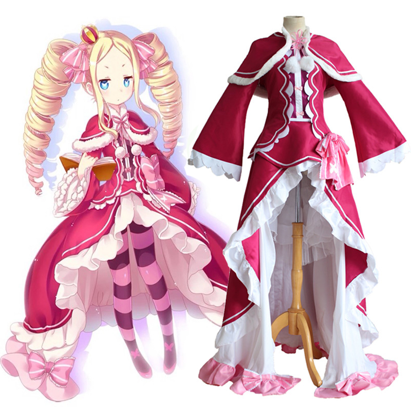 Anime Re ZERO Starting Life In Another World Cosplay Costumes Beatrice Dresses Zero Kara Hajimeru Isekai Seikatsu