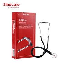 Portátil cabeça dupla estetoscópio médico estetoscópio profissional cardiologia equipamento médico dispositivo estudante veterinário enfermeira
