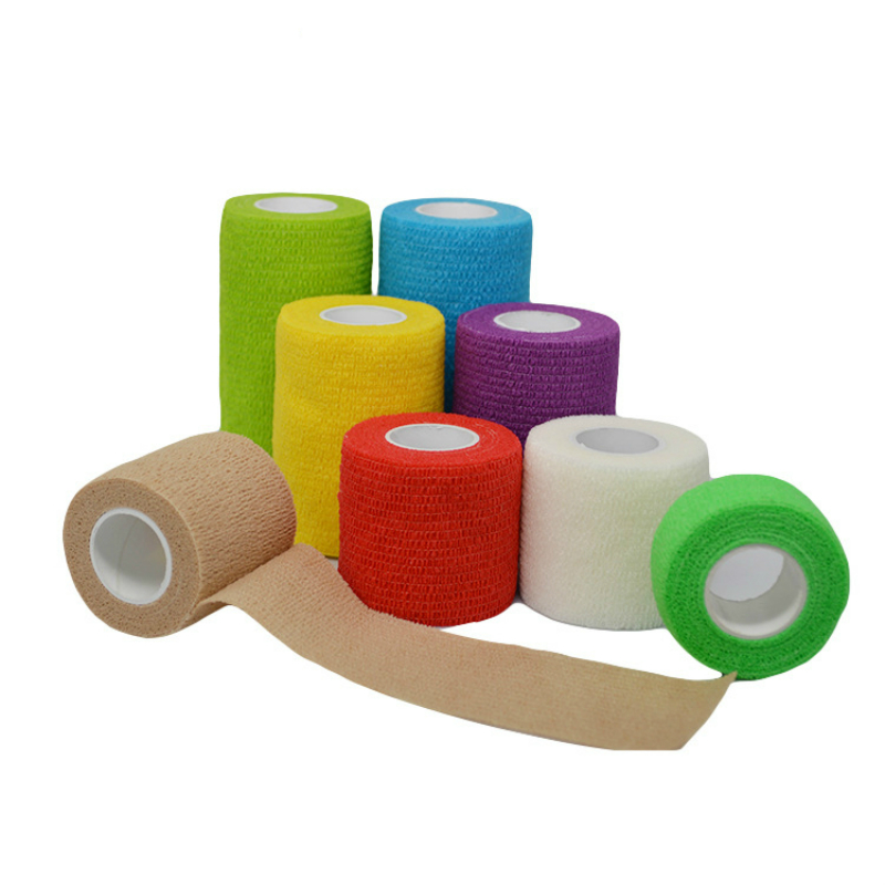 Colorful Sport Self Adhesive Elastic Bandage Wrap Tape5cm* 4.5m Elastoplast For Knee Support Pads Tattoo Accessories