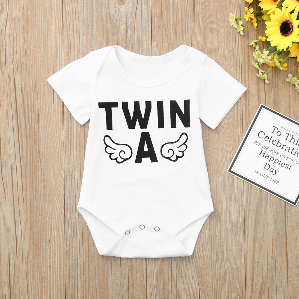 Toddler Baby Boys Bodysuit Short-Sleeve Onesie Use Your Head Print Outfit Summer Pajamas