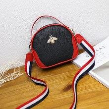 PU Handbag Women's Bag Shoulder Galaxian Purse Messenger Zipper Stripe Korean-Fashion