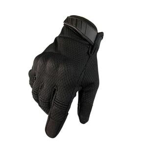 Image 1 - 2021 yeni motosiklet eldivenleri yaz nefes taktik tam parmak eldiven dokunmatik ekran