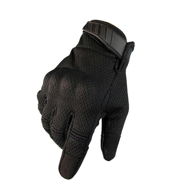 2021 yeni motosiklet eldivenleri yaz nefes taktik tam parmak eldiven dokunmatik ekran