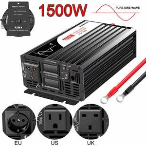 Solar-Power-Inverter Remote-Control Sine-Wave 1500W 110V 220V Pure 12v 24v DC AC 48V