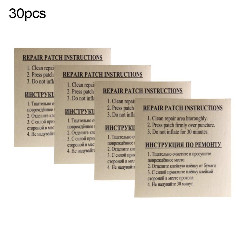30PCS Quick Patch For Swimming Inflatable Pool Lifebuoy Swim Ring Patch Adhesive Glue Repair Kit