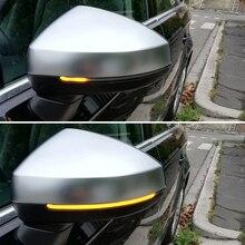 2 шт., светодиодный Динамический указатель поворота для Audi A3 8V S3 RS3, светодиодный светильник с последовательным боковым зеркалом, мигалка 2013, ...