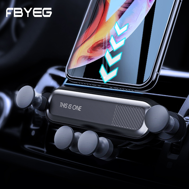 FBYEG Gravity Car Phone Holder No Magnetic Air Vent Telescopic Air outlet Cell Phone Car Mount Holder Universal Mobile Stand