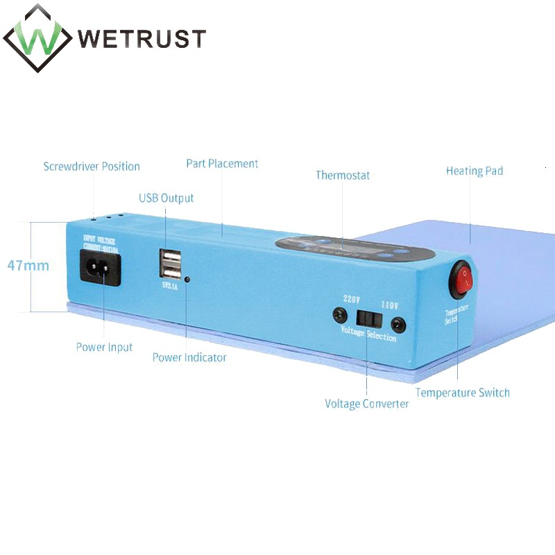 Tools : SUNSHINE SS-918E Mobile Phone IPad LCD Screen Heating Separator Mobile Phone IPad Repair Separation Pad LCD Heating Station