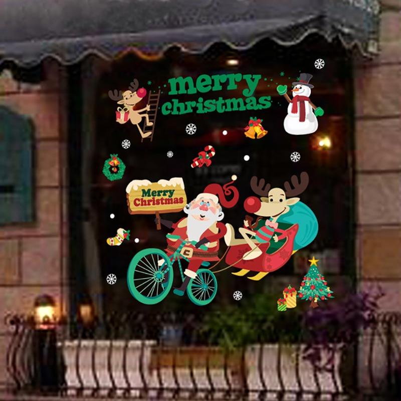 Merry Christmas windows stickers Ամանորյա զարդեր տան - Տոնական պարագաներ - Լուսանկար 5