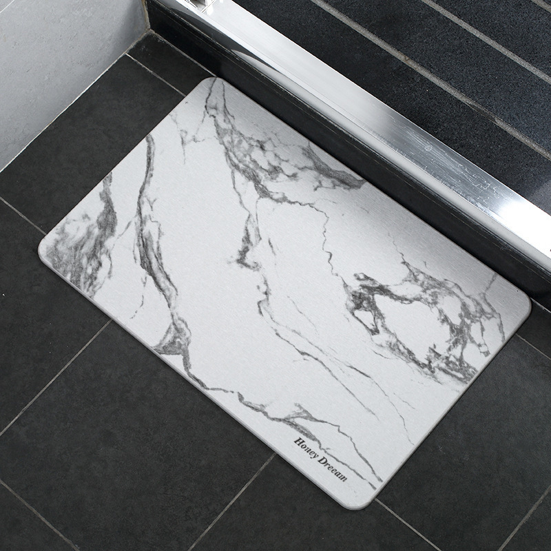 Diatomaceous Bath Mat Fast Drying Absorbent Bathroom Rug Mat Durable Earth Floor Door Bathtub Shower BathMats Carpet for Toilet