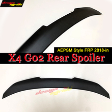 X4 G02 Wing Rear Spoiler FRP Unpainted Black AEPSM Style Fits For BMW X4 Series G02 Rear Trunk Spoiler Wing Car Styling 2018-in montford car styling abs plastic unpainted primer color rear trunk boot wing roof spoiler for bmw f26 x4 spoiler 2015 2016 2017
