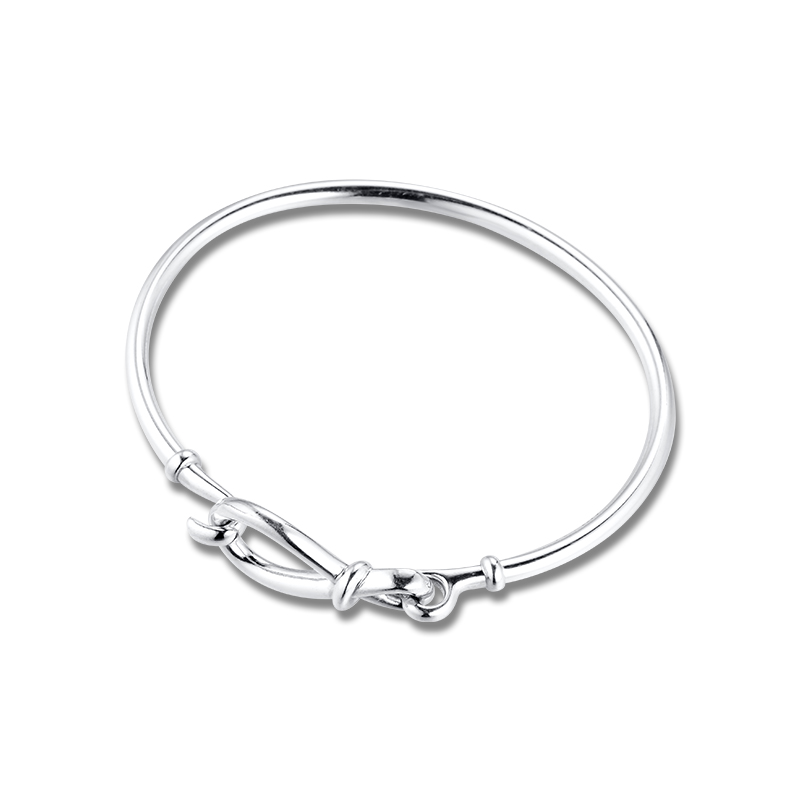 Infinity Knot Bangle for Women 925 Silver Bracelets Jewellry Fashion Accessories Gifts