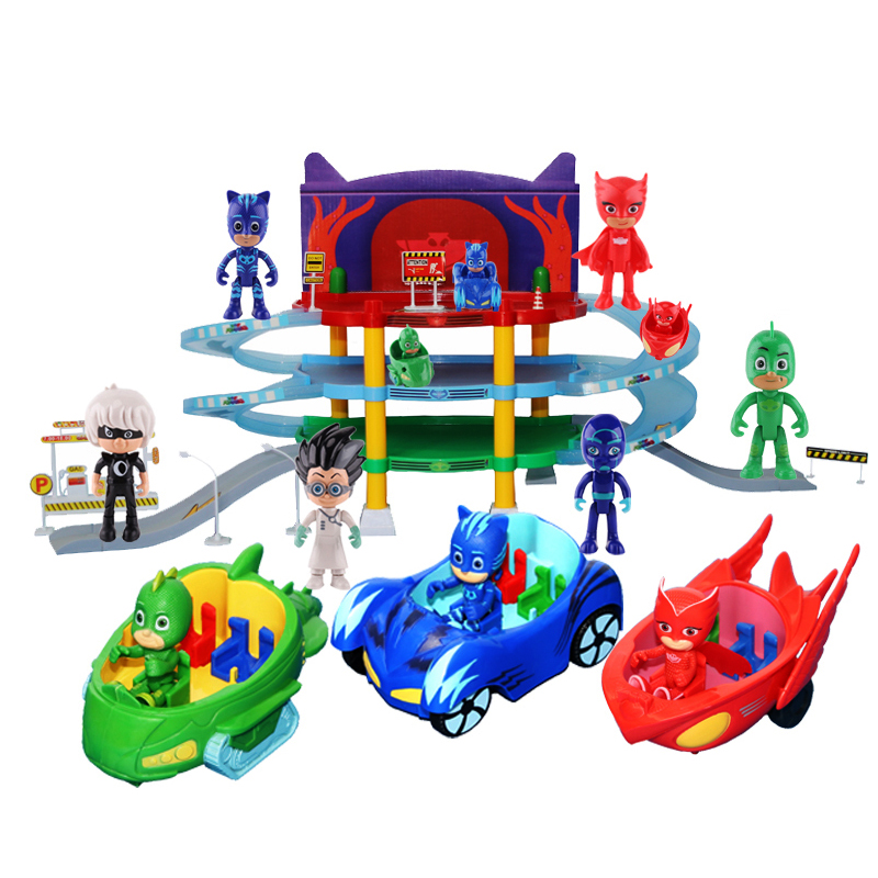 Pajamas Masked Juguete PJ Masks Heroes Small Kids Catboy Owl PVC Action Figure Child Boys Girls Parking Set Toys For Children