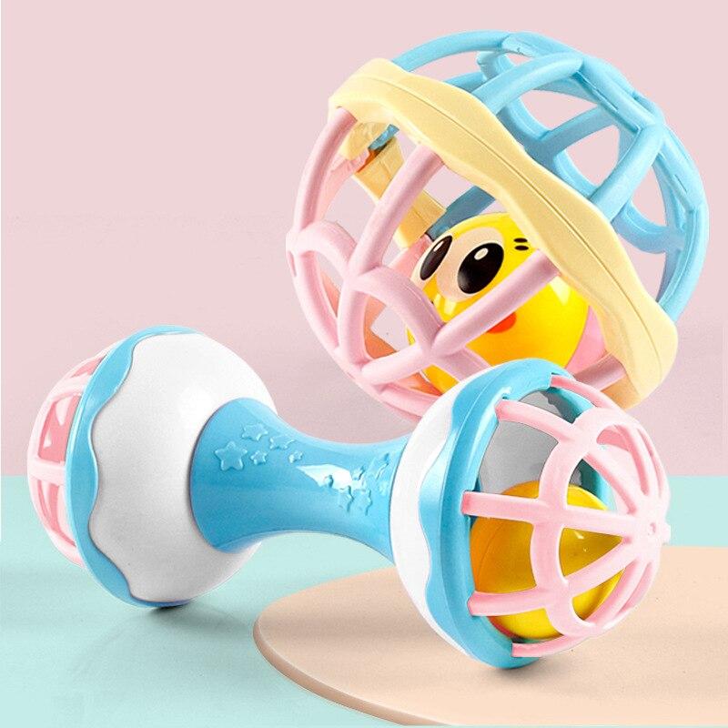 Bebê chocalhos brinquedo inteligência agarrando gomas de plástico mão sino chocalho engraçado educacional celulares brinquedos do bebê 0-12/13-24 meses