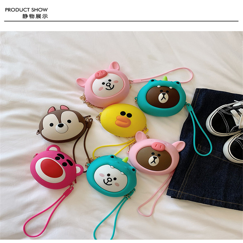 10pcs Fashion Children Shoulder Bag Mini Box For Earphone Simple Circle Bag All Match Key Coin Purse Cute Princess Handbag in Earphone Accessories from Consumer Electronics
