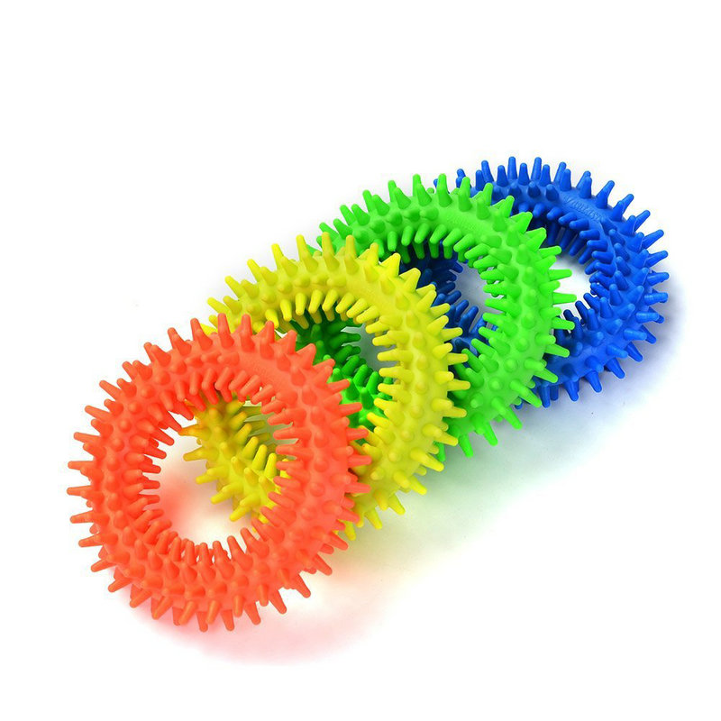 2PCS Spiky Sensory Tactile Ring Kids Adult Fidget Toys Anti-anxiety Stress Release Autism Sensory Therapy Tools ADHD