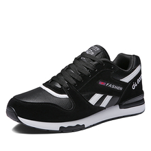 Authentic Competition Sports Shoes Men Leather Breathable Student Sneakers Male Lightweight Hard-Wearing Casual Running