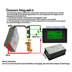Image 5 - dykb DC METER 200A Li ion Lifepo4 Lithium Battery Monitor Capacity Indicator Voltage Current 12V 24V 36V 48V 60V 72V 4S 7S 10S