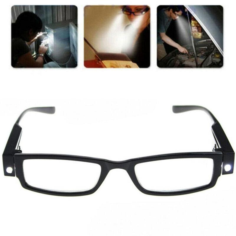 Unisex Adjustable Magnetic Magnet Therapy Health Protection Reading Glasses with illumination LED Light