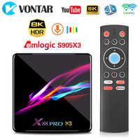 X88 PRO X3 Android 9.0 tv, pudełko 4GB RAM 64GB 32GB Amlogic S905X3 czterordzeniowy 1080p 4K Google Voice Assistant 2G 16G dekoder