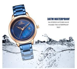 Image 3 - NAVIFORCE Women Watches Top Brand Luxury Ladies Wristwatch Stainless Steel Classic Bracelet Female Clock Relogio Feminino 5008