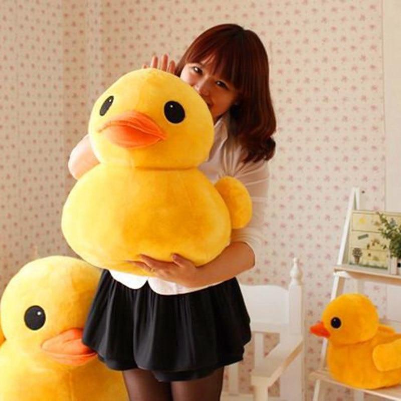 Giant Yellow Duck Plush Toy Stuffed Animals Soft Doll Simulated Ducks Wholesale Plushie Kids Gift Xmas 15/25/40/60cm